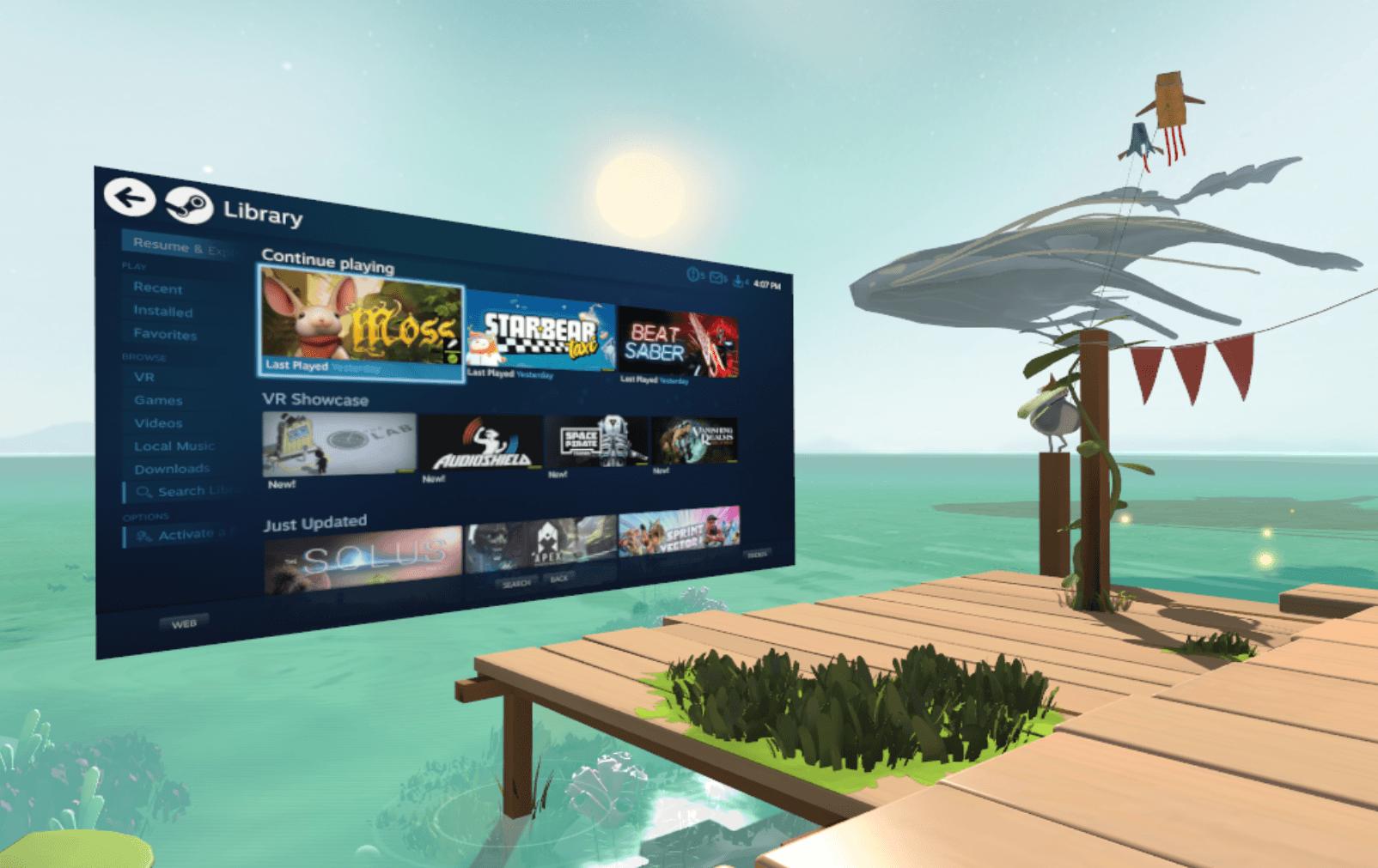 SteamVR Home béta frissítés: Mától kipakolhatod a képernyőidet, ahova akarod