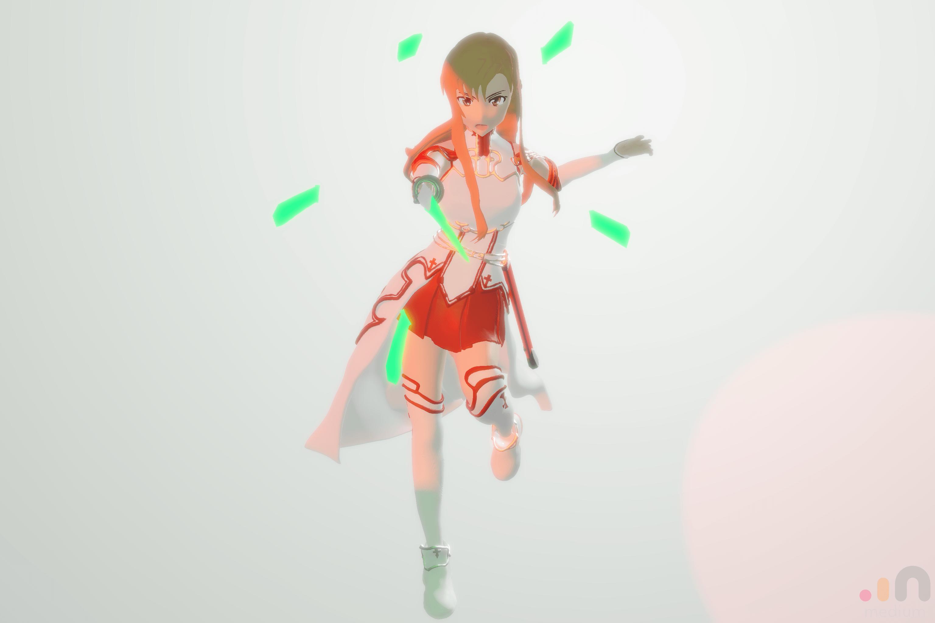 Yuuki Asuna – The Flash – Oculus Medium szobrom