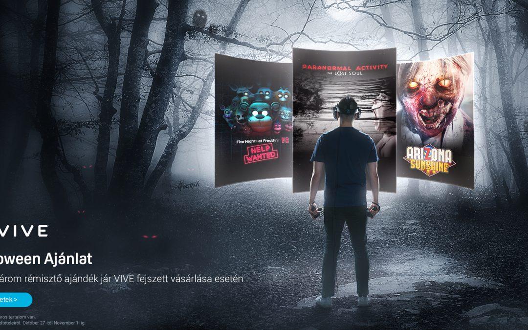 Halloween akció a HTC VR szemüvegekhez